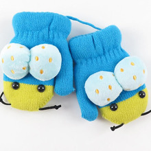Cute Cartoon Winter Plus Velvet Thickening to Keep Warm Children Girl Mittens for Little Girls Boys Gloves