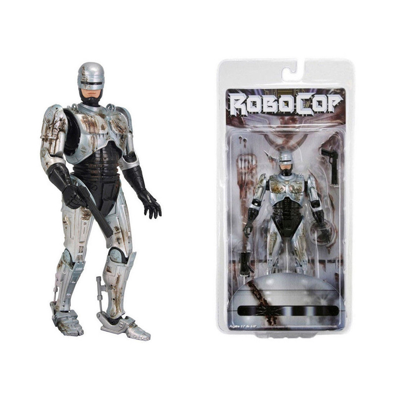 Robocop Figure Battle Damaged Ver. Model Toys Collections Children Toys Gift With Box 18cm 7 robocop action figure 7 battle damaged ver murphy model toys best kids gifts collections