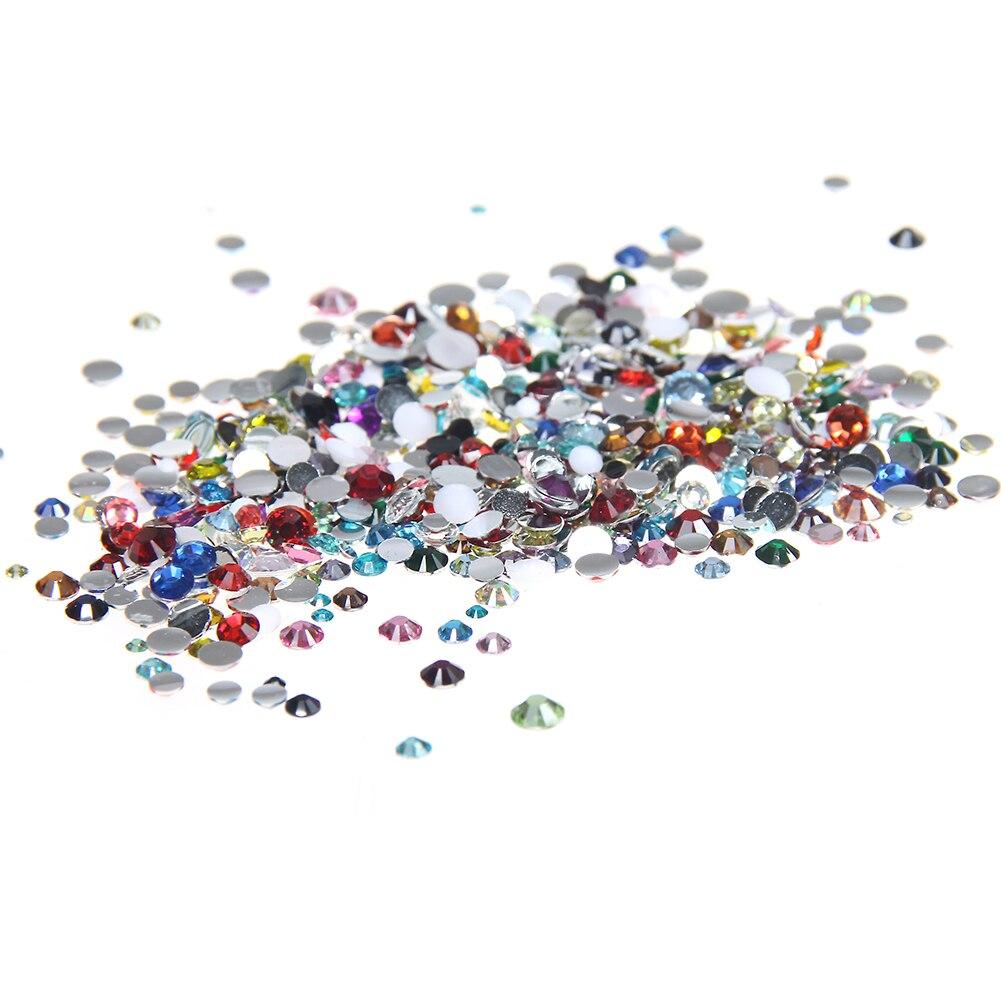 Non Hotfix Resin Rhinestones 4mm 1000pcs Flatback Round Glue On Crafts  Scrapbooking Beads DIY Jewelry Nails Art Decorations 59a31b2328d6