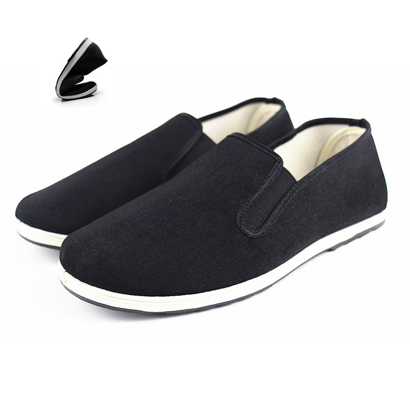 Design Men Casual Shoes Black Vulcanize Shoes Sneakers Men Loafers Mens Trainers Breathable Shoes Slip On Chinese Kong fu Style new mens shoes casual black sneakers leather shoes men loafers white platform driving shoes for men trainers chaussures hommes