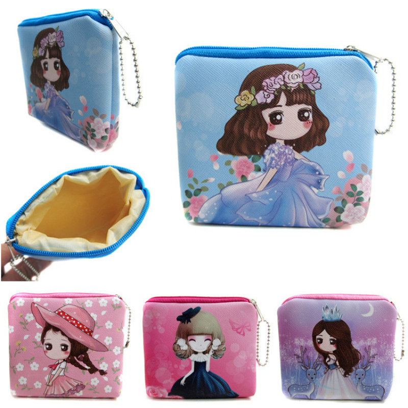 High Quality Princess Doll Purses Lady Cartoon PU Leather Storage Money Bag Mini Wallet Key Holder Case For Girls Coins Pouch 12mm waterproof soprano concert ukulele bag case backpack 23 24 26 inch ukelele beige mini guitar accessories gig pu leather