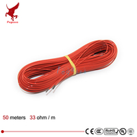 24K 12 5meter 230w 220V 17ohm Infrared Heating Floor Heating Cable System Of 2 4mm PTFE