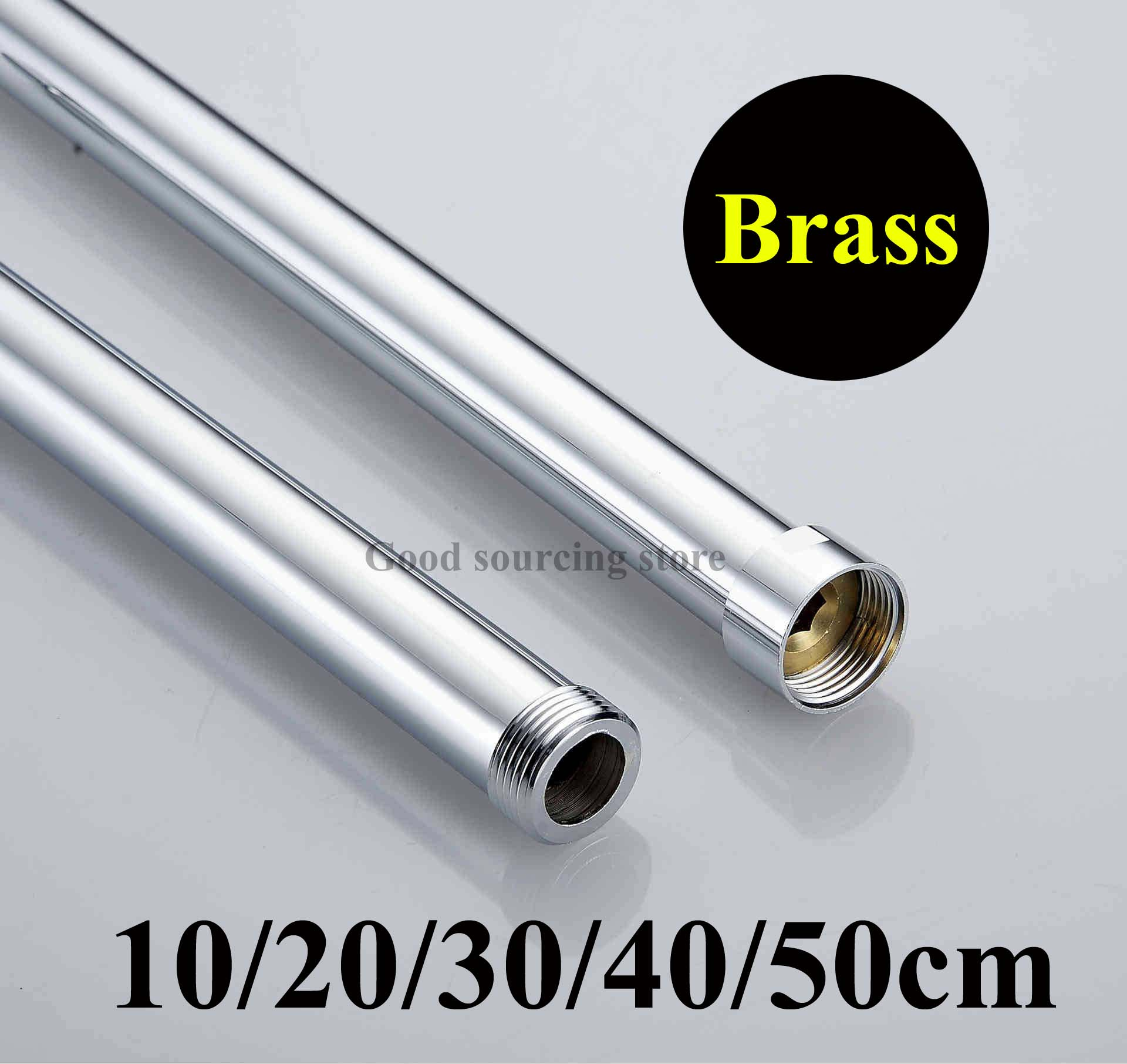 10/20/30/40/50cm Brass Shower Extension Rod Tube Bar Pipe