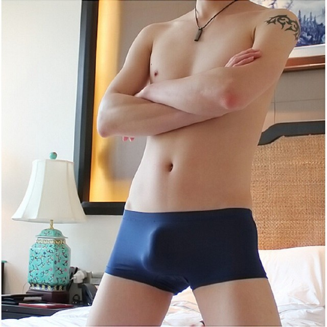5df2e17a2c6c Hot Super thin ice silk mens sexy underwear boxers shorts men's low rise  seamless underwears men boxer size M L XL,4pcs/lot
