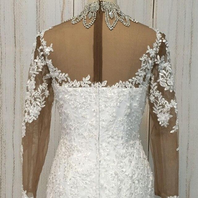 Фото superkimjo кружевное свадебное платье с длинными рукавами и