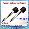 Frete Grátis 1 pair Splicer Da Fusão Eletrodos para FSM-50S 60 S 70 S 80 S