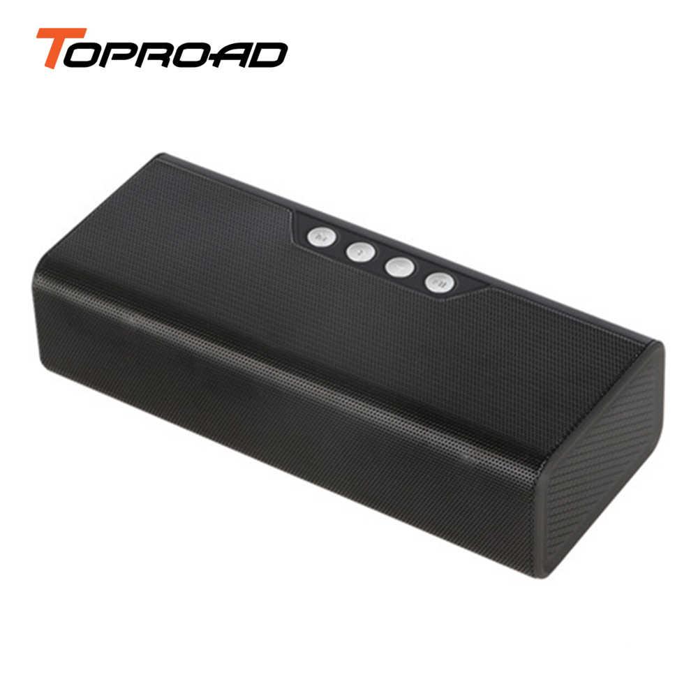 Toproadポータブルbluetoothスピーカー10ワットワイヤレスデスクトップスピーカーサポートfmラジオaux tfカードusbで電源銀行4000 mah