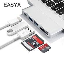 Easya Тип USB c HUB 5 в 1 USB c концентратора адаптер Dongle док-станции Thunderbolt 3 комбинированные с USB 3.0 Порты Micro SD карты для MacBook Pro