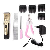 Professional Electrical Pet Hair Trimmer Pet Dog Cat Low noise Hair Clipper Grooming Shaver Cut Machine Set Grooming Scissors EU