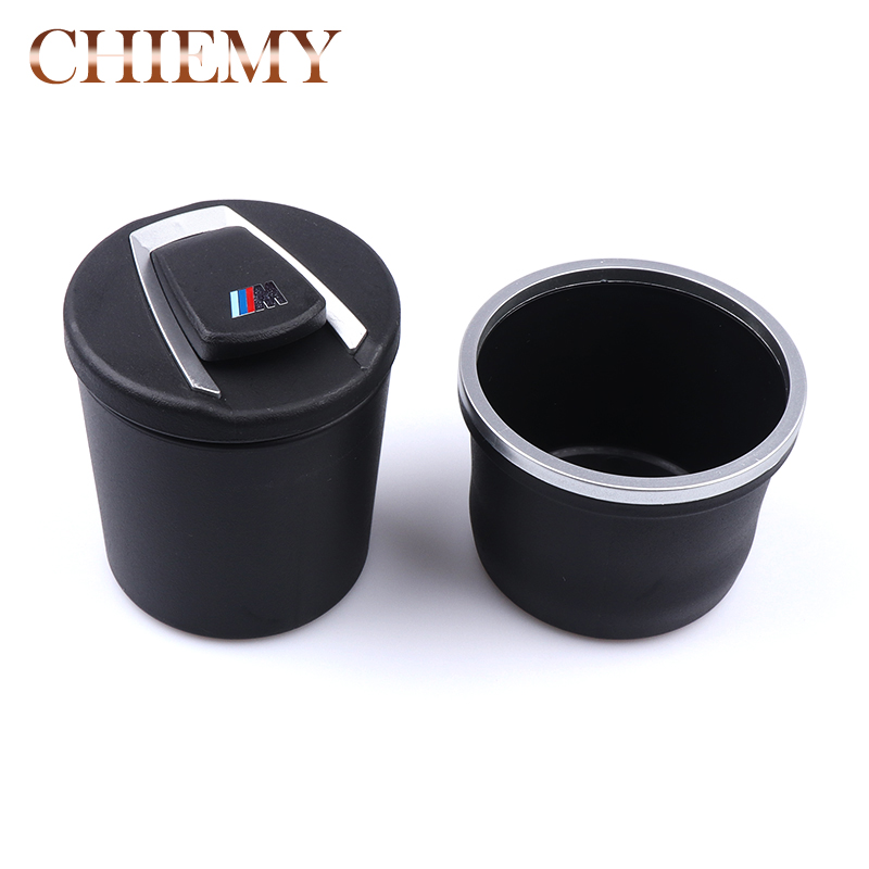 Car Cigarette Ashtray with Detachable Storange Box for Cup Holder Smokeless with Blue LED Light Cover for BMW e46 e39 e60 e90 e7 полка для авто ashtray led 4s