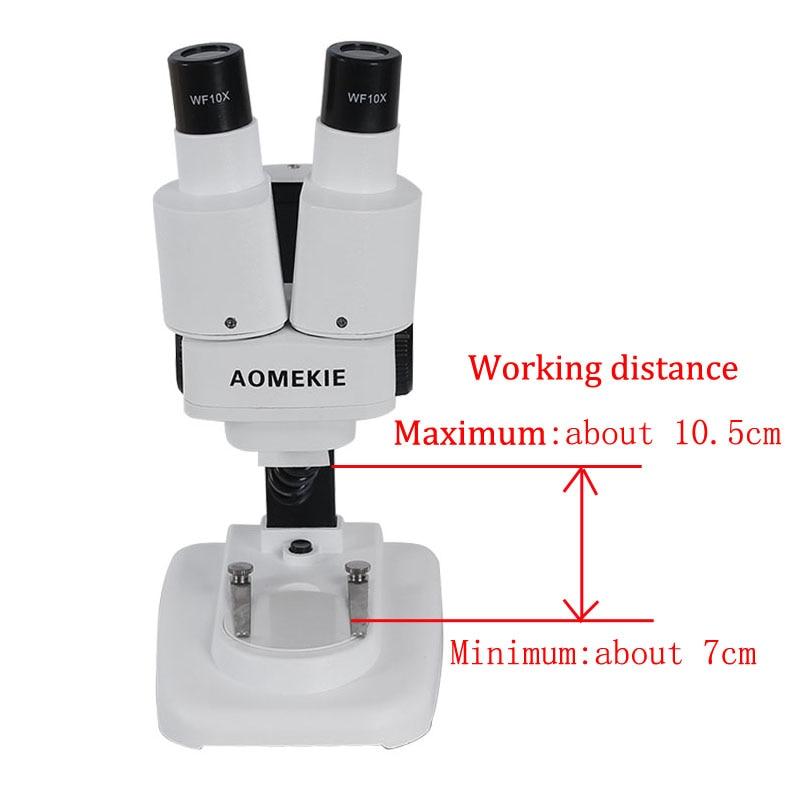 AOMEKIE žiūrono stereomikroskopas 20X / 40X virš LED lempučių - Matavimo prietaisai - Nuotrauka 6
