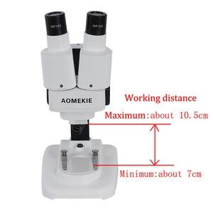 Image 5 - AOMEKIE Binocular Stereo Microscope 20X/40X Above LED Lights PCB Solder Tool Mobile Phone Repair Mineral Watching Microscopio