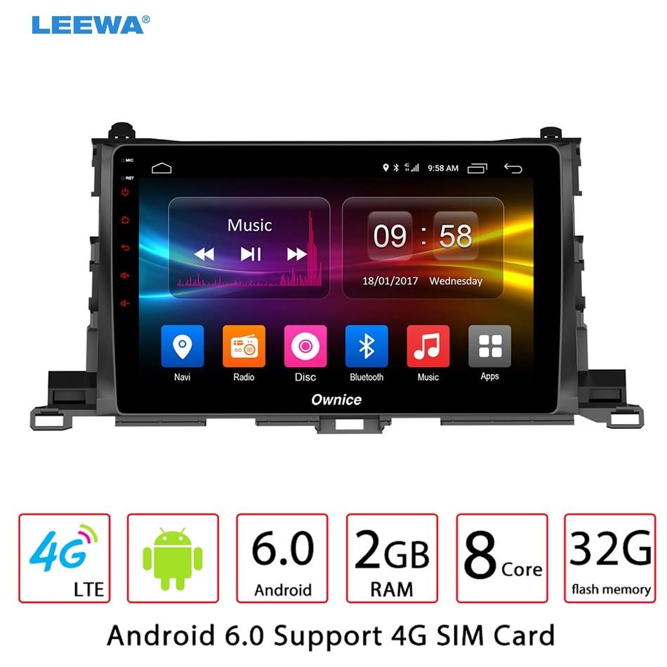 10.1 10.1 inch Android 6.0 (64bit) Octa Core DDR3 2G/32G/ FDD 4G Car DVD GPS Radio Head Unit For Toyota Highlander 2015 #2784