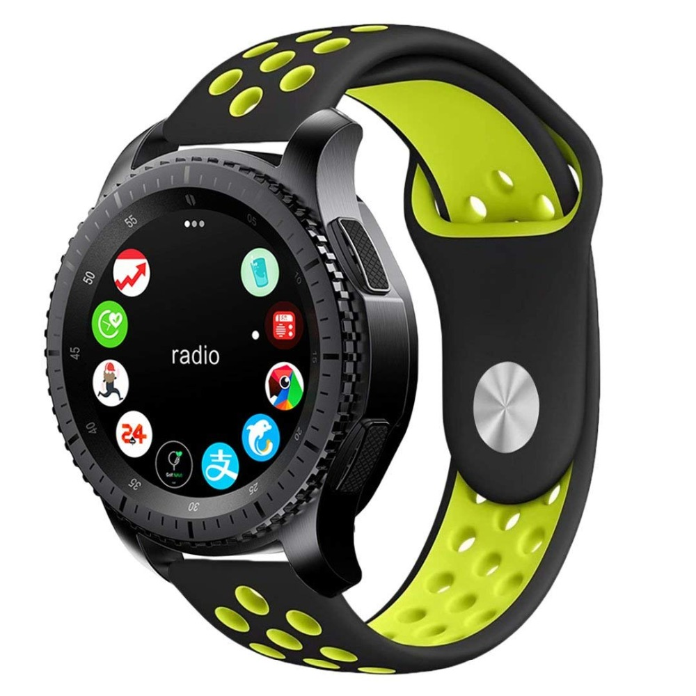d293d6aa2a49 Detail Feedback Questions about 22mm Silicone Sport band strap For Samsung  Gear S3 Frontier classic NIKE Rubber Watchbands for Xiaomi Huami Amazfit  bands on ...