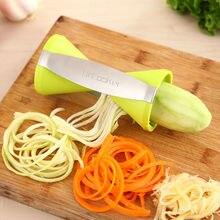 NEUESTE BESTE VERKAUF 4 Klingen Gemüse Spiralizer Spiralgemüseschneider Küche Gadget mit Reinigungsbürste