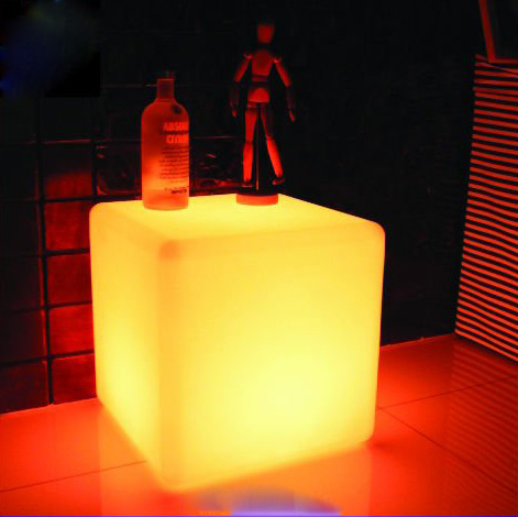 Wholesale 300mm Led Cube Chair Wtih Cushion,nightclub Cube Seat,led  Furniture, RGBwaterproof