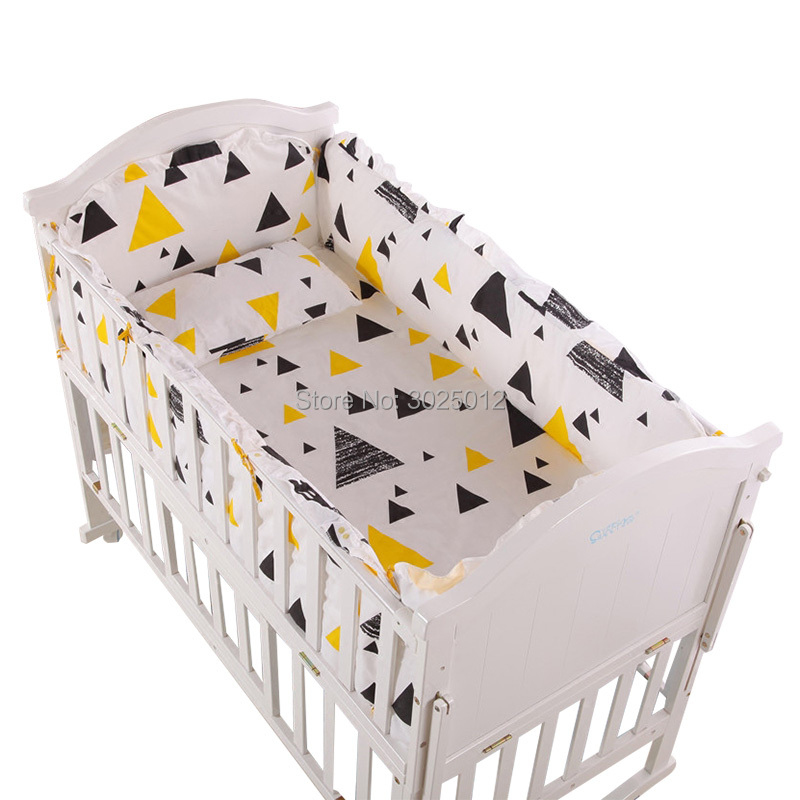Baby Crib Bumper Geometry Breathable Crib Liner Cotton Crib Bumper Baby Cot Sets Baby Bed Protector Baby Bedding Bumper