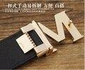Nuevos 2017 Cinturones de Diseñador Hombres de Alta Calidad M Hebilla Hombres Cinturones Cinturones de Lujo Para Los Hombres envío gratis 011