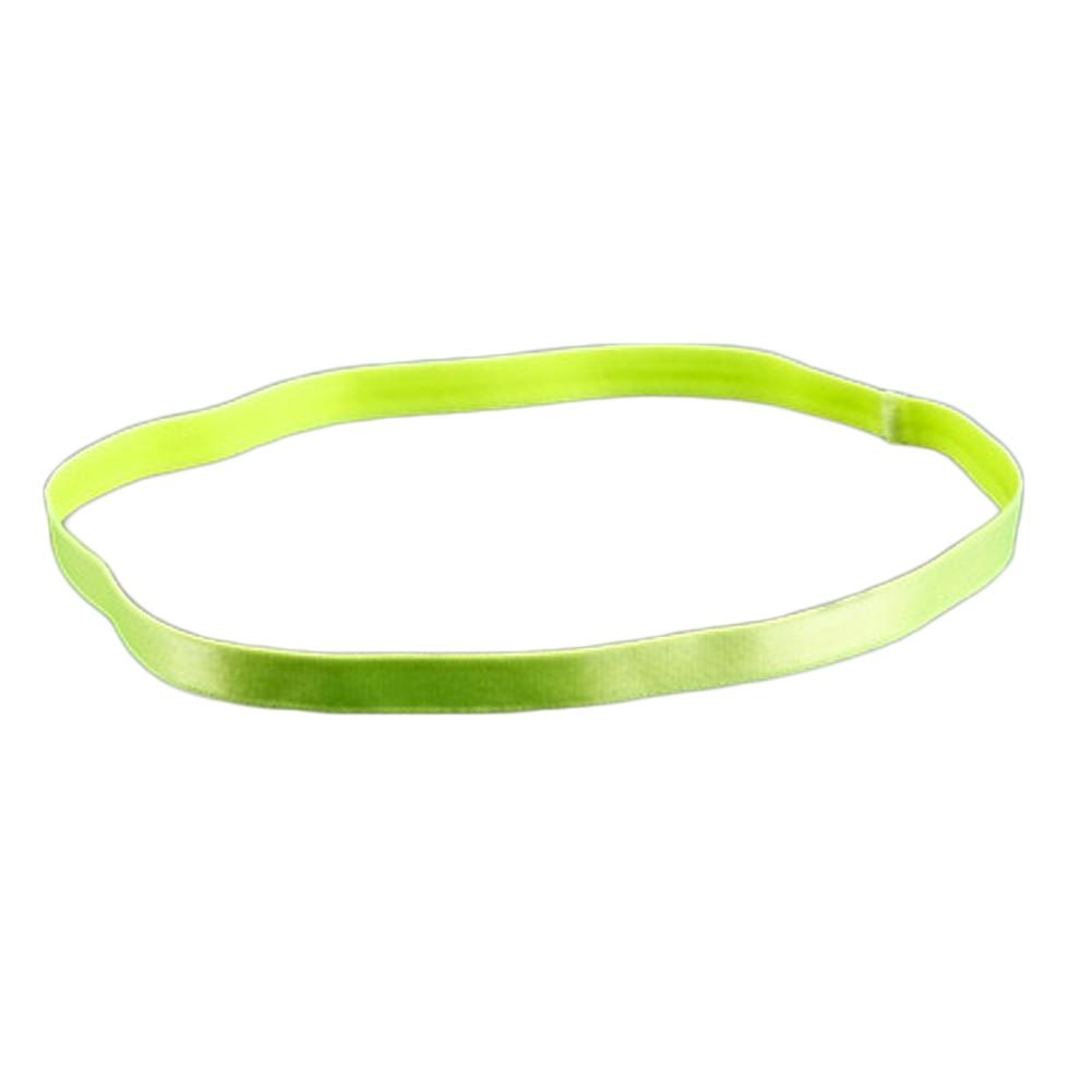 Women Men Yoga Hair Bands Anti-slip Elastic Rubber Sweatband Headband 9 Colors Drop Shipping