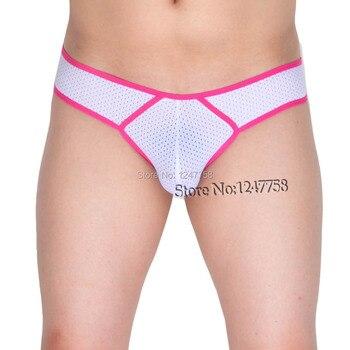 Mens underwear boxers Breath Holes Bikini Boxers sexy boxershort Underwear Male Bikini Elastic Micro Boxers фото