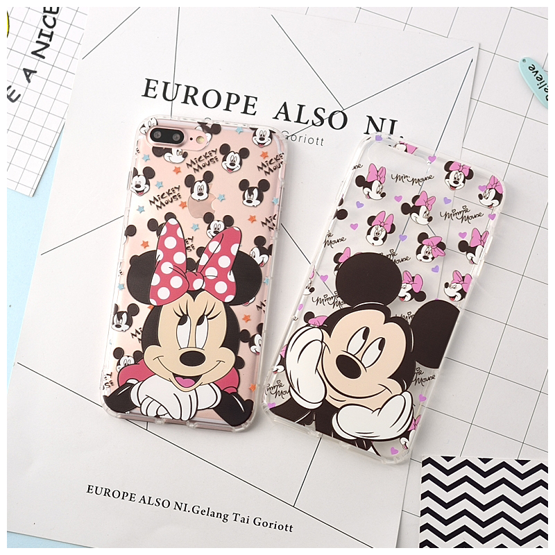 100pcs Fashion For iPhone X XS MAX XR Case Mickey Minnie Mouse Coque TPU soft Mobile Phone Cases For iPhone 7 6 6S 6 Plus Cover100pcs Fashion For iPhone X XS MAX XR Case Mickey Minnie Mouse Coque TPU soft Mobile Phone Cases For iPhone 7 6 6S 6 Plus Cover
