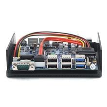 Dual lan nano mini pc Intel celeron n3160 quad core 1.6GHz fanless mini computer full hd 1080p mini pc router 2*HDMI 1*DP port