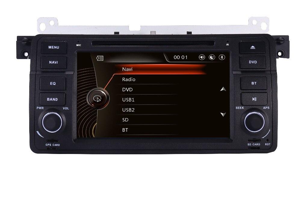 Lecteur DVD de voiture écran tactile 7 pouces 2 Din pour BMW E46 M3 avec 3G GPS BT Radio USB SD commande au volant peut bus carte GPS gratuite