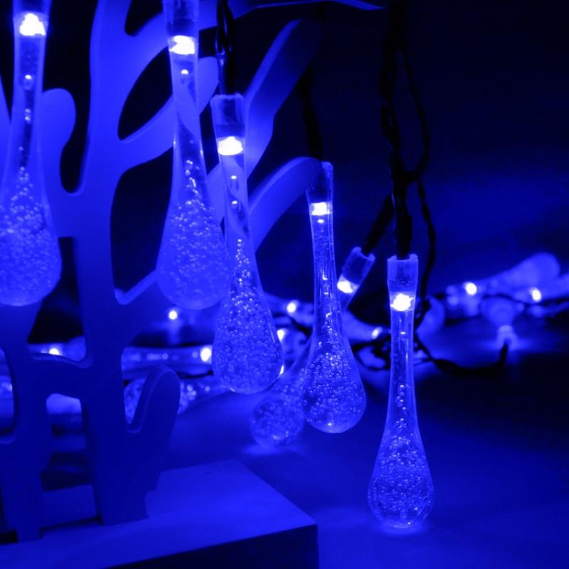 Outdoor Solar Led String light 6M 30 Led droplet күн - Мерекелік жарықтандыру - фото 3