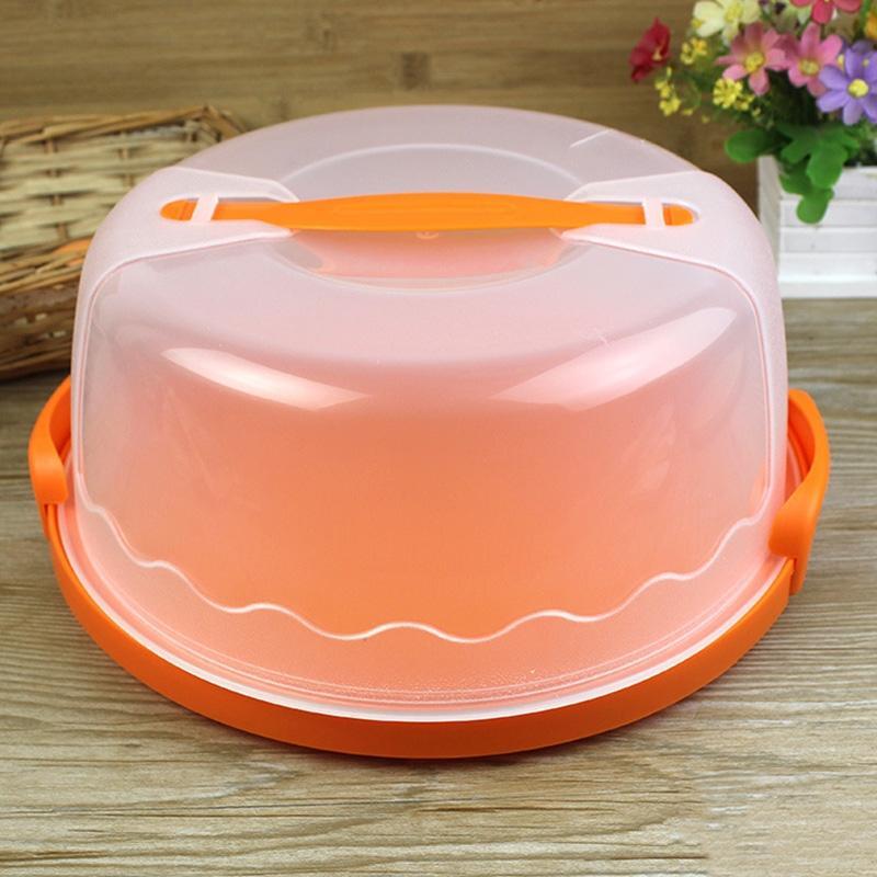 LanLan Пластик торт Хранитель торт Кадиллак держатель контейнеров чехол подходит для 10 дюймов торт или меньше Жмыха