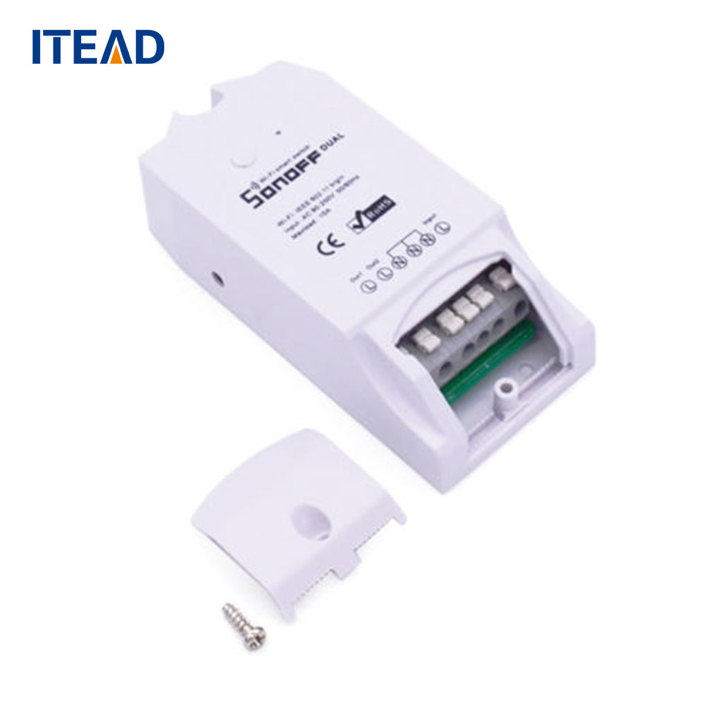 ITEAD Sonoff Remote Control Dual Home Automation Wireless WiFi Smart Switch 10A Smart Switch Module dc 12v led display digital delay timer control switch module plc automation new