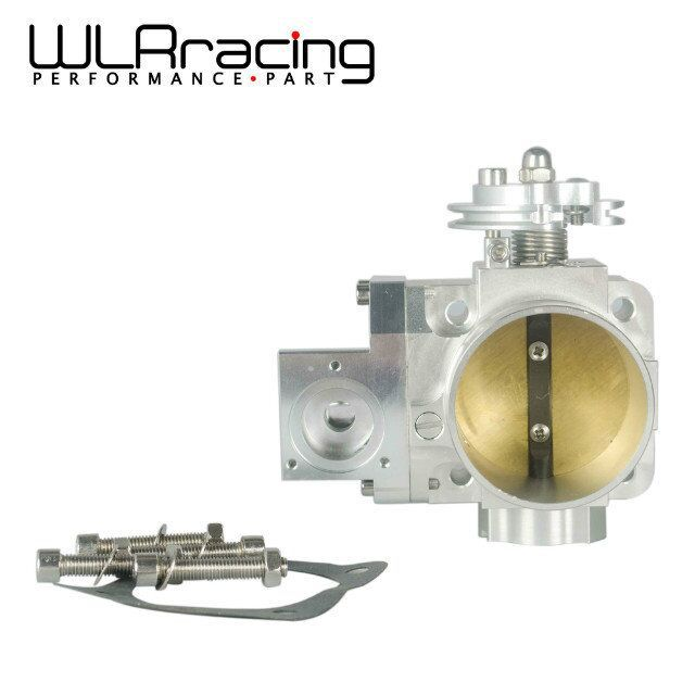WLRING STORE- NEW THROTTLE BODY FOR EVO 4G63 70mm CNC Intake Manifold Throttle Body evo7 evo8 evo9 4g63 turbo WLR6948 wlr store cast aluminium intake manifold for 93 98 supra 2jzgte for toyota 2jz intake manifold high quality new brand