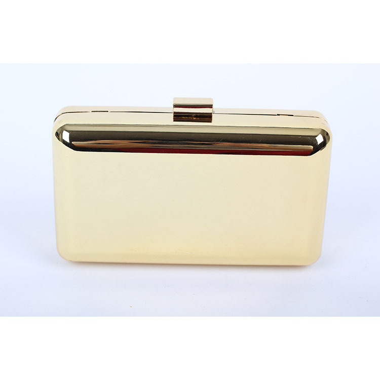 Clutch Bag As Brand Plain Gold