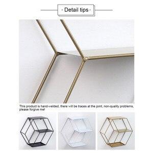 Image 3 - 3 Colors Wall Mounted Metal Rack Circular Mesh Iron Shelf Euro Style Round Shelf Office Sundries Organizer Home Decor