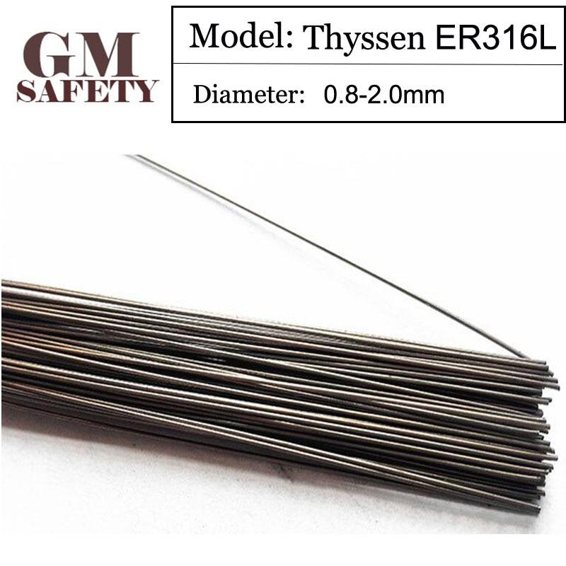 1KG/Pack GM Thyssen ER316L TIG Welding Wire for Welders (0.8/1.0/1.2/1.6mm) T0121587 1kg pack gm safety mould welding wire trader p20 repairmold welding wire for welders 0 8 1 0 1 2 2 0mm s01217