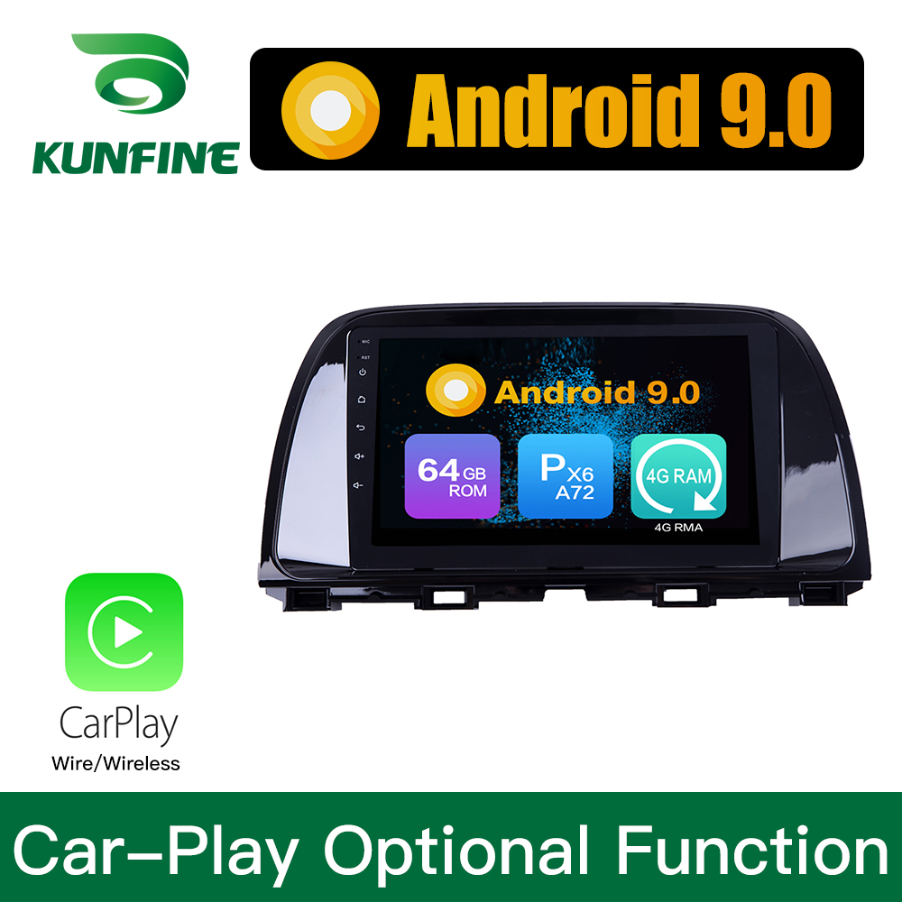 <font><b>Android</b></font> 9.0 Ram 4G Rom 64G PX6 Cortex A72 Car DVD GPS Multimedia Player Car Stereo For <font><b>Mazda</b></font> <font><b>6</b></font> ATENZA 2014 -2016 <font><b>Radio</b></font> Headunit image
