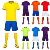 2018 Uniforme di Calcio Per Gli Uomini di Calcio Suit Manica Corta Abbigliamento Sportivo Insiemi di Calcio Con Design Personalizzato Logo