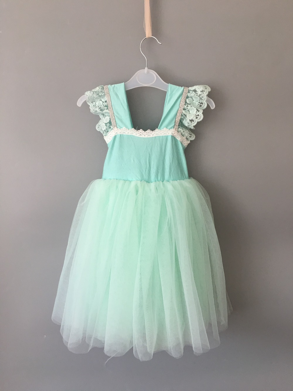 Summer new girl puff sleeve tutu dress baby girl rhinestone party dress toddler girl party dress