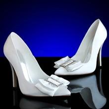 Мода весна осень обувь высокие каблуки обуви горный хрусталь насос свадебные ну вечеринку вечерние формальные платья обувь атласные туфли