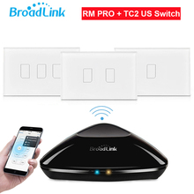 Broadlink rm2 rm pro + tc2 light touch de interruptor de pared 1 2 3 gang ee.uu. std inteligente domótica universal wifi control remoto + ir + rf