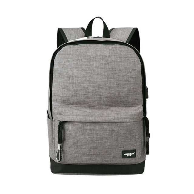 b45e9cdd4e Waterproof Backpack USB 15.6 Inch Laptop Bag Men Women Large Capacity Black  Grey Backpacks School Bags Mochila Masculina BP0148
