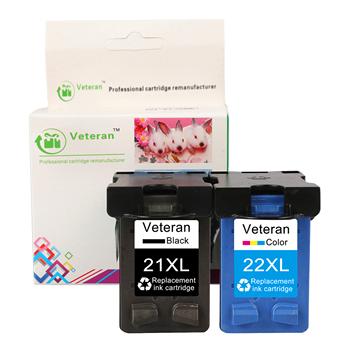 Weteran kartridż do hp 21 22 dla hp21 hp22 wkłady atramentowe hp Deskjet F2180 F2200 F2280 F4180 F300 F380 380 D2300 drukarki tanie i dobre opinie Veteran Pełna 21XL 22XL Re-produkowane Wkład atramentowy HP Inkjet compatible for hp 21 22XL (C9351A C9352A) Bk 600 pages Tri-Color 450 pages