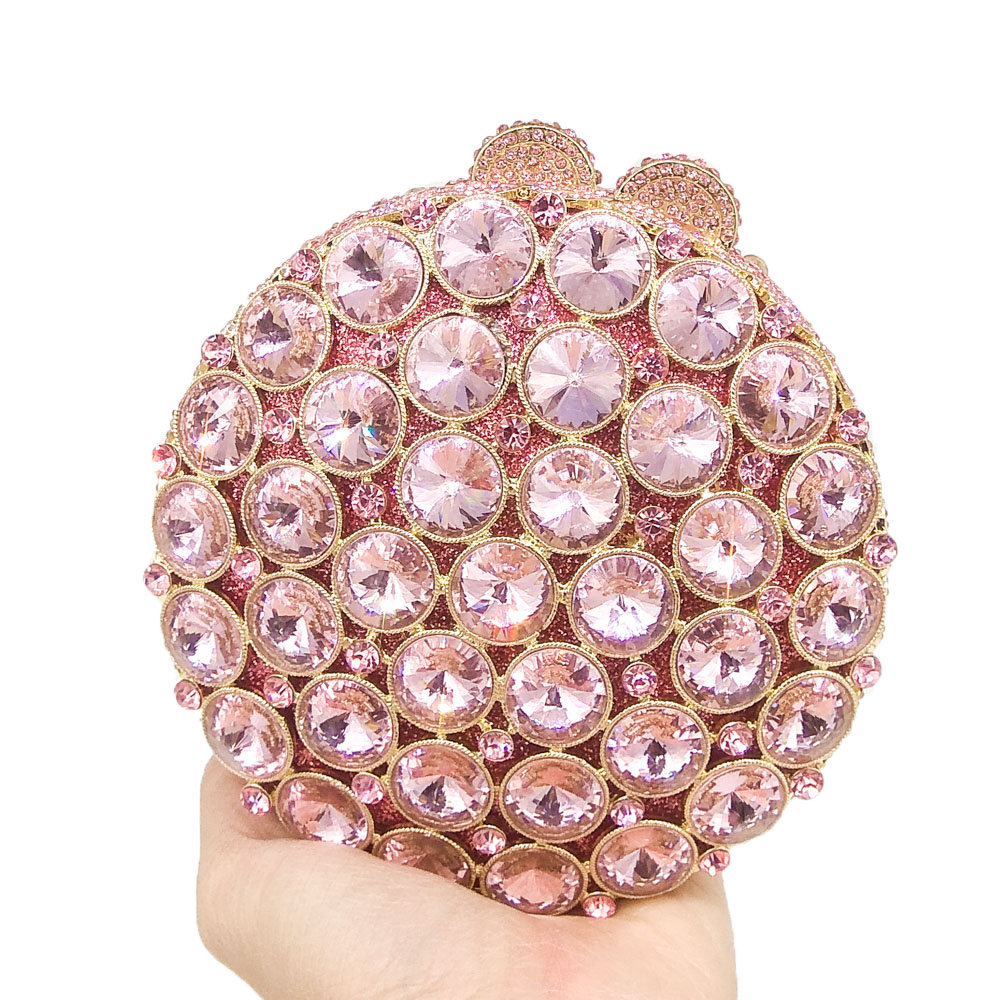 Image 2 - Boutique De FGG Socialite Hollow Out Round Hardcase Women Pink 