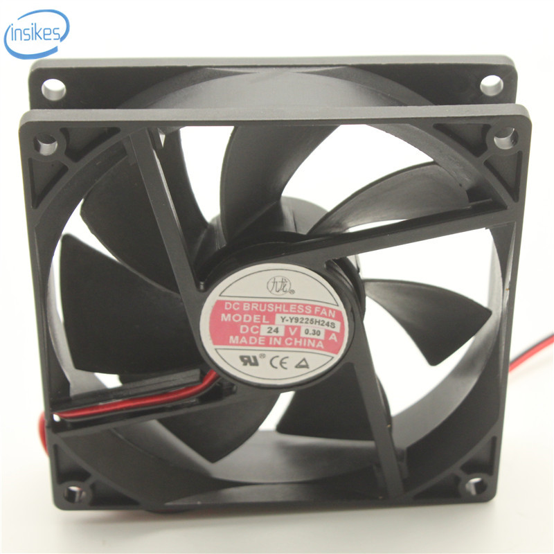 YY9225H24S Power Supply Inverter Cooling Fan DC 24V 6 72W 0 3A 4100RPM 9cm  9225 92*92*25mm 2 Wires