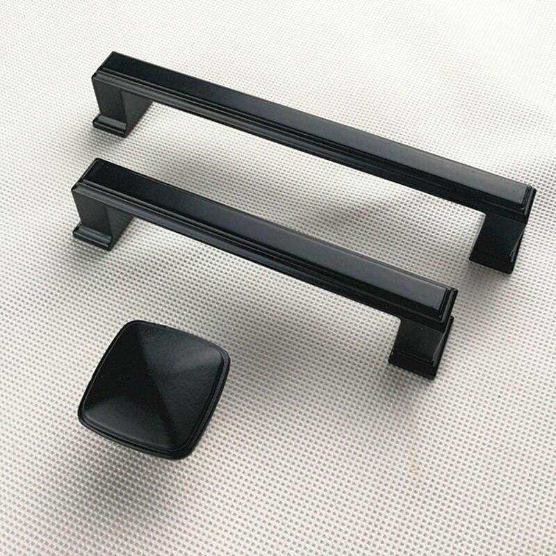 Ручки для шкафа из цинкового сплава черного цвета в американском стиле, дверные ручки для кухонного шкафа, ручки для выдвижных ящиков, модные мебельные ручки, фурнитура