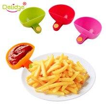 Delidge 4 шт./компл. красочные пластина специй блюдо зажим Универсальный зажим чашка для еды диск приправа зажим для посуды