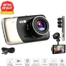 Mini Car DVR Cam Dual Lens 2017 New 4″ Video Recorder Full HD 1080P WDR Parking Car Camera Dash Cam Night Vision Auto Black Box