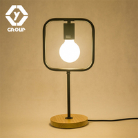 OYGROUP Night Table Lamp Vintage Black Iron Modern Desk Lamp Table Bedside LampAbajur Para Quarto Light For Home#OY16T11