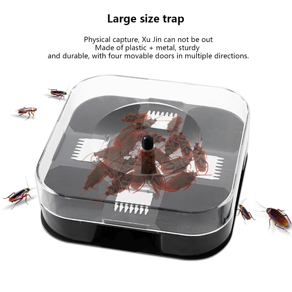 Cockroach Trap With Baits Plastic Reusable Non-Toxic Bug Roach Catcher Insect Pest Killer FP8