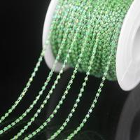 NEW! Stainless Steel Wire Wrapped Green AB Miyuki Delica Glass beads Rosary Chain,Japanese seed beads Chains Necklace Jewelry