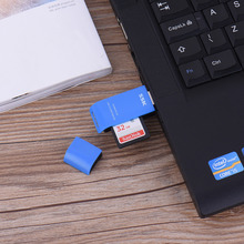 High speed 2 in 1 card reader USB 3.0 cardreader Memory card supports Windows 98/2000 / XP / Vista, Mac OSX 9.x Original SSK